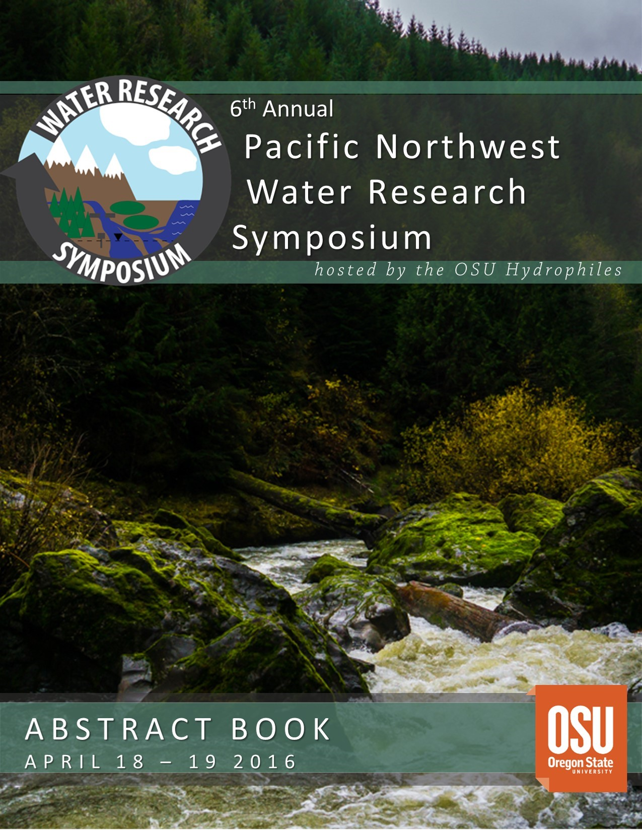 2016 Abstract Book Cover