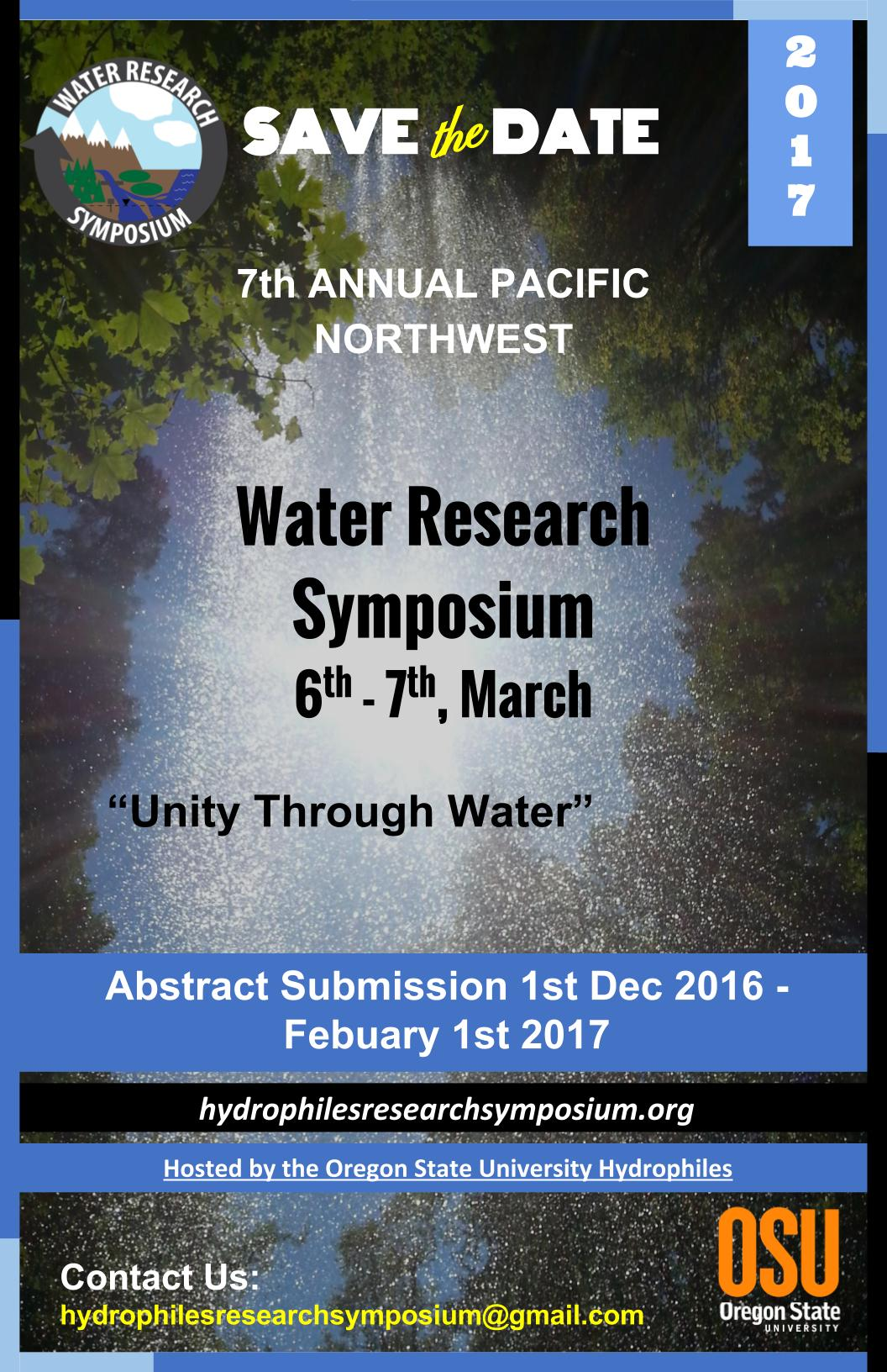 2017 Flyer: abstracts accepted Dec 01 2016 - Feb 1st 2017